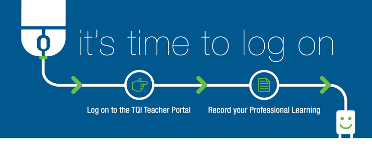 It's time to log on to the TQI Teacher Portal